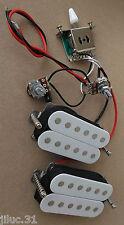 New KIT HH 2 humbuckers & électronique pour guitare Squier, Fender strat ou tele