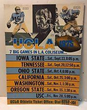 Vintage 1975 UCLA Bruins Counter Top Display Football Season Schedule NEW
