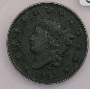 1823-P 1823 Liberty Head Large Cent ICG AU50 Details