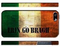 Ireland Irish Flag Erin Go Bragh iPhone 4 5S 5c 6 6S 7 8 X XS Max XR + Plus Case