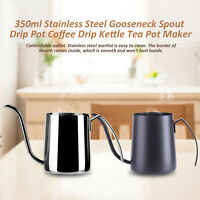 350ml Gooseneck Spout Drip Pot Coffee Drip Kettle Tea Pot Maker Stainless Steel