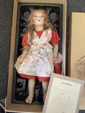 Annette Himstedt Porzellan Puppe Nanja 66 cm. Ltd. 84/90. Top Zustand
