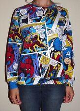 Excellent Womens Size Medium 7-9 Marvel Superhero Comics Pullover Sweatshirt