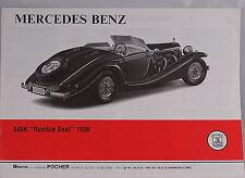 Pocher 1:8 Bauanleitung Mercedes Benz 540K Rumble Seat 1936 K95 neu