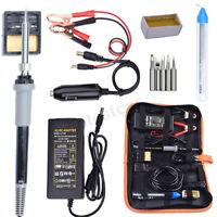 DC12V 35W Electrical Soldering Welding Iron Full Kit Set Adjustable