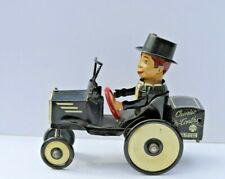 Antique Marx Tin Wind Up Charlie McCarthy Crazy Car in Working Condition