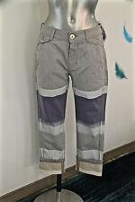 pantalon 7/8 retroussé tricolore MARITHE FRANCOIS GIRBAUD taille 44 fr W34 NEUF