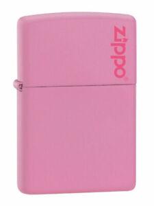 PINK ZIPPO LIGHTER WITH LOGO  ZIPPO   FREE  UNITED KINGDOM.   SHIPPING.---......