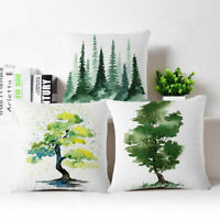 Ink pine tree Cotton Linen Fashion Throw Pillow Case Cushion Cover Home Decor
