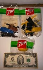 3 7UP Seven Up toys: 2 cars ITALA 1909 & BRIXIA ZUST 1908 + surprise Uruguay