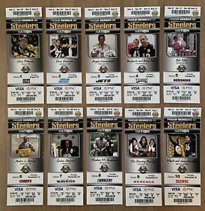 2012 NFL PITTSBURGH STEELERS FULL UNUSED FOOTBALL TICKETS ENTIRE HOME SEASON