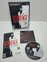 Scarface: The World is Yours (Sony PlayStation 2, 2006) w/ Manual