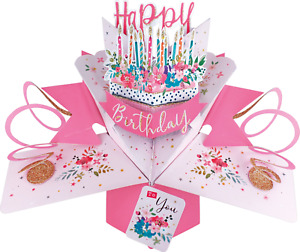 Birthday Card 3D Pop Up Card Girl Grand Daughter Niece Friend Sister Gift Card