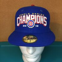 Chicago Cubs New Era 59Fifty 2016 World Series Champions Polyester Size 7