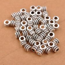 50/100Pcs Tibetan Silver Tube Charm Spacer Beads Jewelry Findings 3041