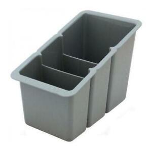 Delfinware Cutlery Draining Rack 2500GRY Utensil Storage Container Grey