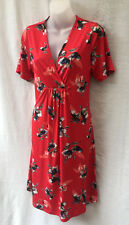 W Lane Size 12 Dress Stretch Red Short Slv Work Casual Holiday Travel  FREE POST