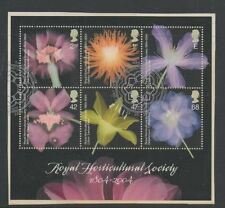 Gb 2004 Royal Horticultural Society Bicentenary Minisheet fine used set stamps
