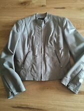 Women's Next Real Leather Grey Biker Jacket Size 10