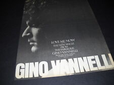 The Fabulous. Gino Vannelli 1975 Promo Poster Ad for Love Me Now