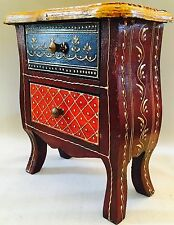 Indian Hand Made Carved Wood Wooden Box Cabinet Holder Jewellery Box Henna Work