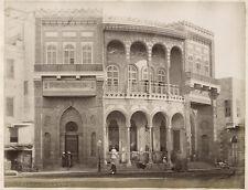 c.1880's PHOTO  - EGYPT CAIRO 'FONTAINE  ET ECOLE DE LA VALIDE'