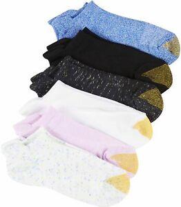 Gold Toe Womens 6-pk. Marled Ultra Soft Liner Socks 9.5-11 Multi marled