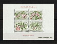 (YYAY 989) Monaco 1986 MNH Mich 1782 -65 Scott 1559 Flora, Seasons of the Year
