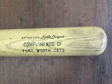 Fort Worth Cats Texas League Baseball Bat Hillerich & Bradsby #77