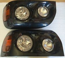 Freightliner Century 2005+ Headlights Lamp Black Pair Driver & Passenger Side