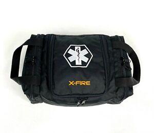 """X-FIRE ® EMS/EMT Empty First Responder Trauma Bag 12"""" x 8"""" x 5.5"""" - Black"""