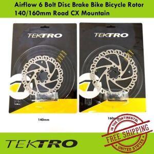 Tektro Airflow 6 Bolt Disc Brake Bike Bicycle Rotor 140/160mm Road CX Mountain