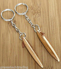 Wood Surfboard Keyring Keychain Key Ring Chain Surfer Surfing Surf #8251