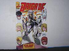 IMAGE COMICS BRIGADE     # 1 AUG 1992  1ST ISSUE!   WITH CARDS