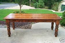 Heart Pine Harvest/Dining Table, Desk, Rustic, Handcrafted, Reclaimed, Farmhouse