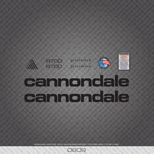 0609 Black Cannondale R700 Bicycle Stickers - Decals - Transfers