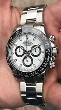 ROLEX DAYTONA 116500LN WITH WHITE DIAL IN NEW CONDITION NEVER WORN BOX & PAPERS