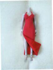 "Custom 1:6 Scale Figure Red Female Long Evening Dress For 12"" PH HT Body Doll"