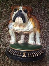 Bulldog Dog Door Stop Upper Deck Cast Iron