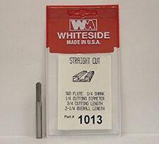"""WHITESIDE 1013 STRAIGHT BIT - 1/4"""" SH X 1/4"""" CD X 3/4"""" CL"""
