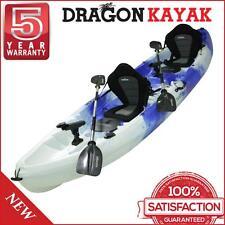 New Dragon Kayak 2.5 Seater Family Deluxe Fishing Kayak - Blue And White