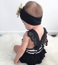 Newborn Infant Baby Girls Romper Bodysuit Jumpsuit Outfits Sunsuit Clothes US