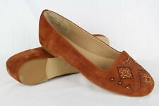 Sundance Women's Suede Ballet Flats Size 38/7 Brown Made In Italy
