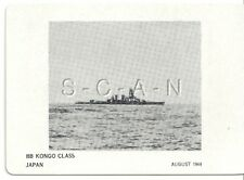 WWII Double Sided Recognition Photo Card- Navy Battleship BB Kongo Class- 1944