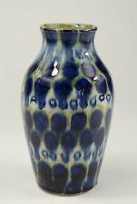 Vase - Kunsttöpferei Friedrich Festersen, seltener Schwammdekor