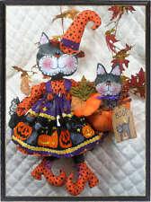 """Primitive Black Cats """"Kooky & Little Boo""""~PATTERN #119~Ginger Creek Crossing"""