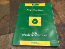 1998 Dodge Ram 1500 2500 3500 SERVICE Diagnostic Manual Body Electronics