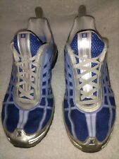 WOMEN'S NIKE SHOX ATHLETIC RUNNING SHOES SIZE 7 BLUES AND SILVER BOX INCLUDED