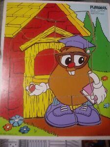 Classic 1985 Hasbro Playskool 11 Pc Potato Head Kid Puzzle Whiz Kid  252-02 USA