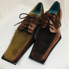 Sio Mens Shoes Faux Fur Lace Up Brown Size 9 Statement NEW